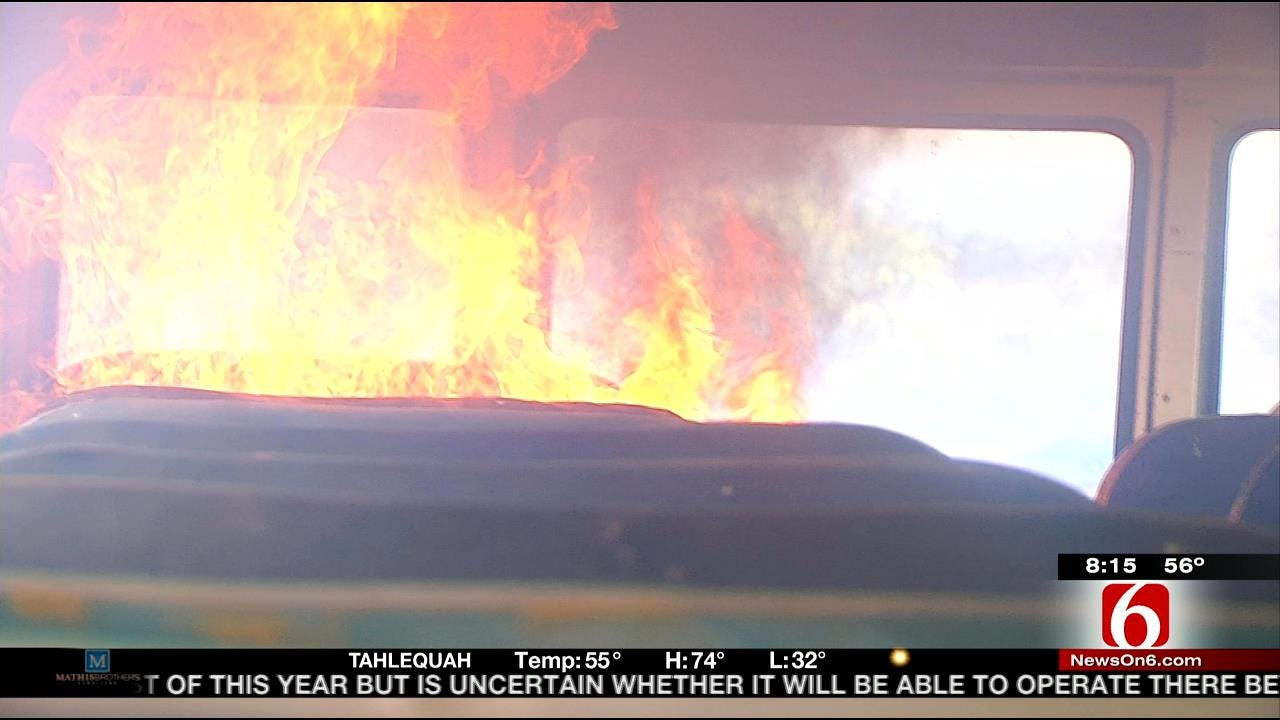 Get Out Alive: Firefighters Advice On Escaping Burning School Bus