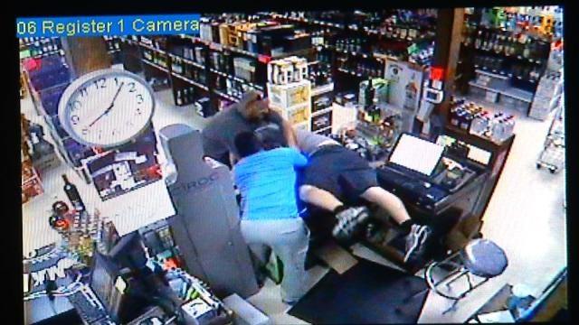WEB EXTRA: Surveillance Video Of Robbery At Tulsa Liquor Store