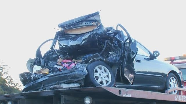 WEB EXTRA: Video From Scene Of Fatal Crash In Okmulgee County