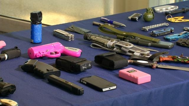 WEB EXTRA: TSA Shows Of Some Of The Items Confiscated At Airport Security Checkpoints
