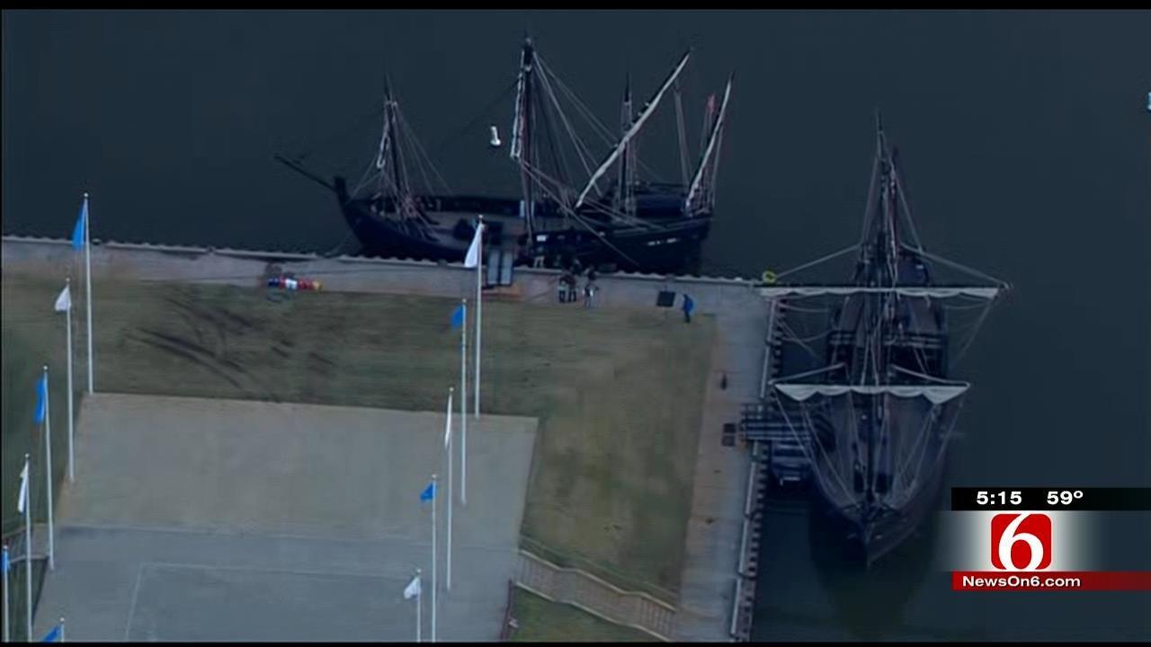 WEB EXTRA: Replicas Of Nina, Pinta Dock At Port Of Catoosa