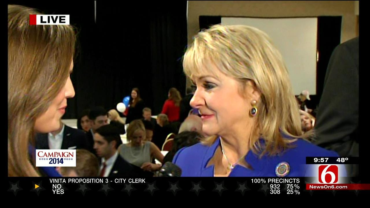 Oklahoma Governor Mary Fallin Wins Second Term Of Office