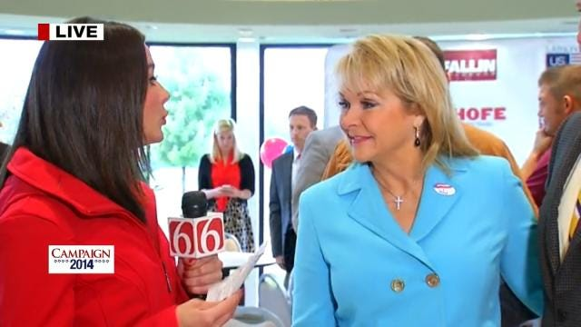 WEB EXTRA: Governor Mary Fallin's Campaign Stop in Tulsa Tuesday Morning
