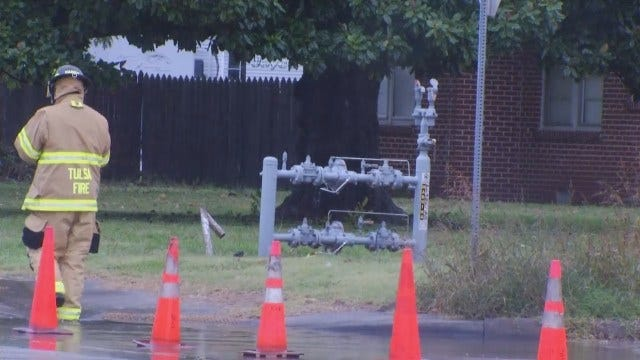 WEB EXTRA: Video From The Scene Of Natural Gas Leak Near Tulsa Elementary School