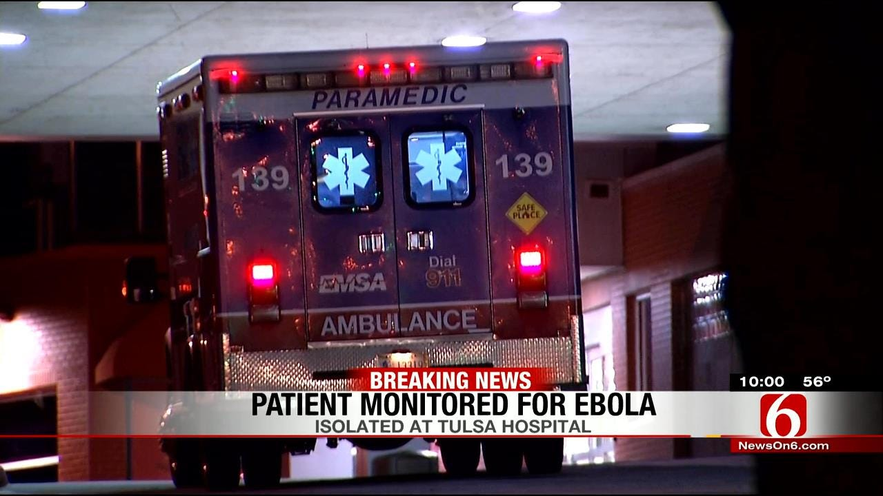 Tulsa Patient Being Monitored For Ebola