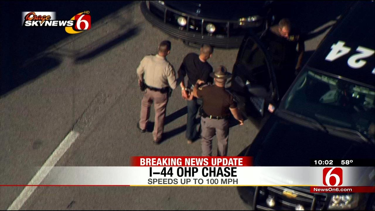 Police Pursuit Ends In Tulsa With Driver Behind Bars, Drugs Seized