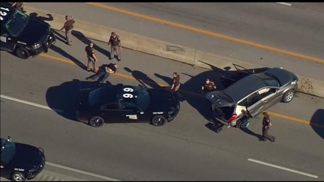 WATCH: Man Leads OHP On 30-Minute Chase Through Tulsa Before Crashing