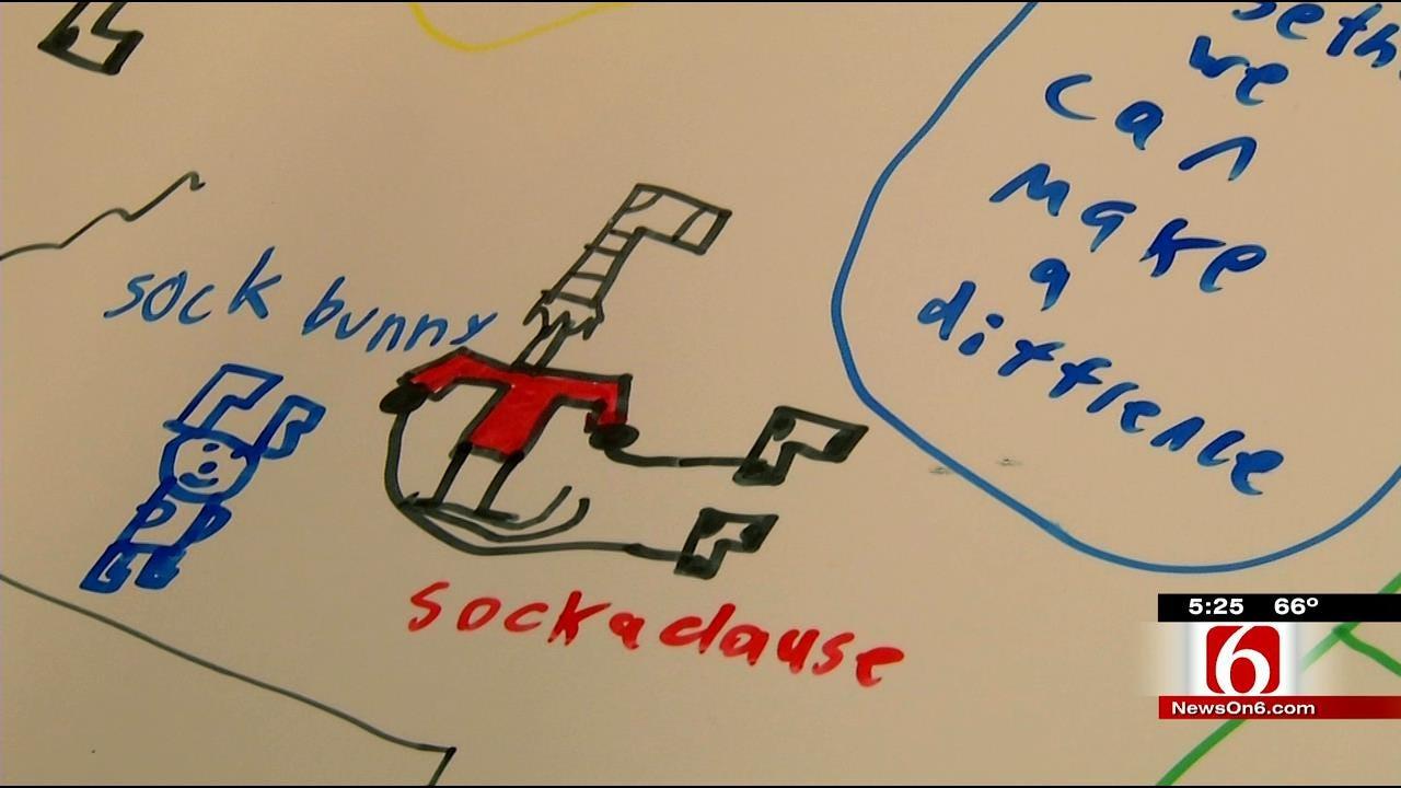 Keeping Those In Need Warm, Skiatook Students Start 'Socktober'