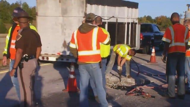 WEB EXTRA: ODOT Crews Repair Crumbling Tulsa Bridge