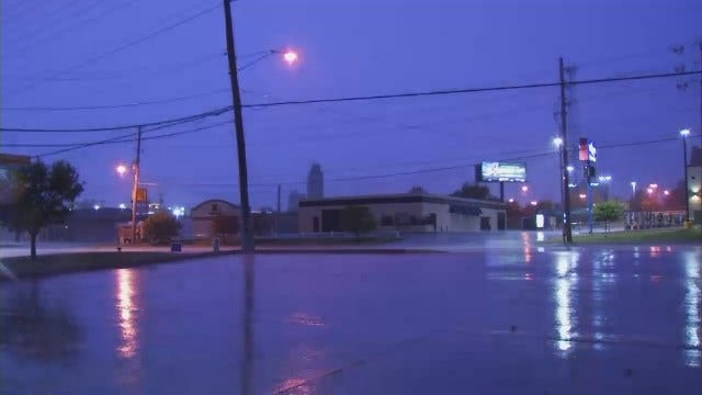 WEB EXTRA: Video Of Rain, Lightning In Tulsa As Thunderstorms Roll Across The City