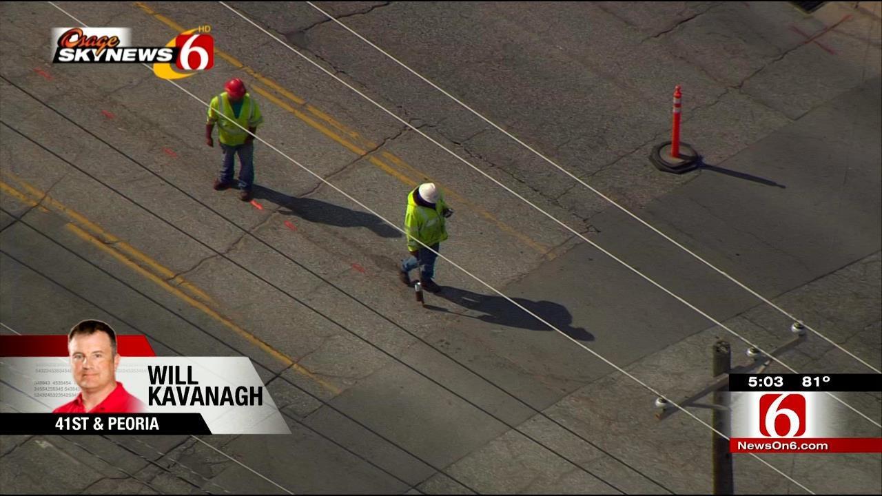 Tulsa's South Peoria Resurfacing Project Underway