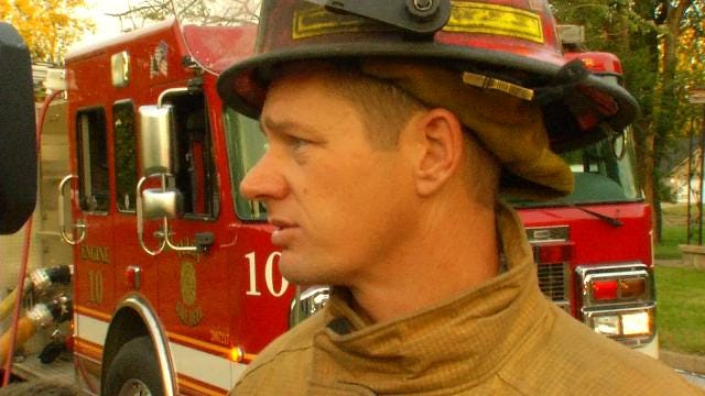 WEB EXTRA: Tulsa Fire Captain Spencer Yeager Talks About House Fire
