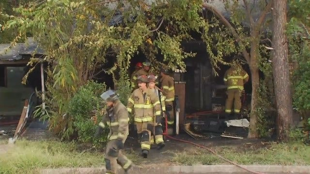 WEB EXTRA: Video From Tulsa Vacant House Fire