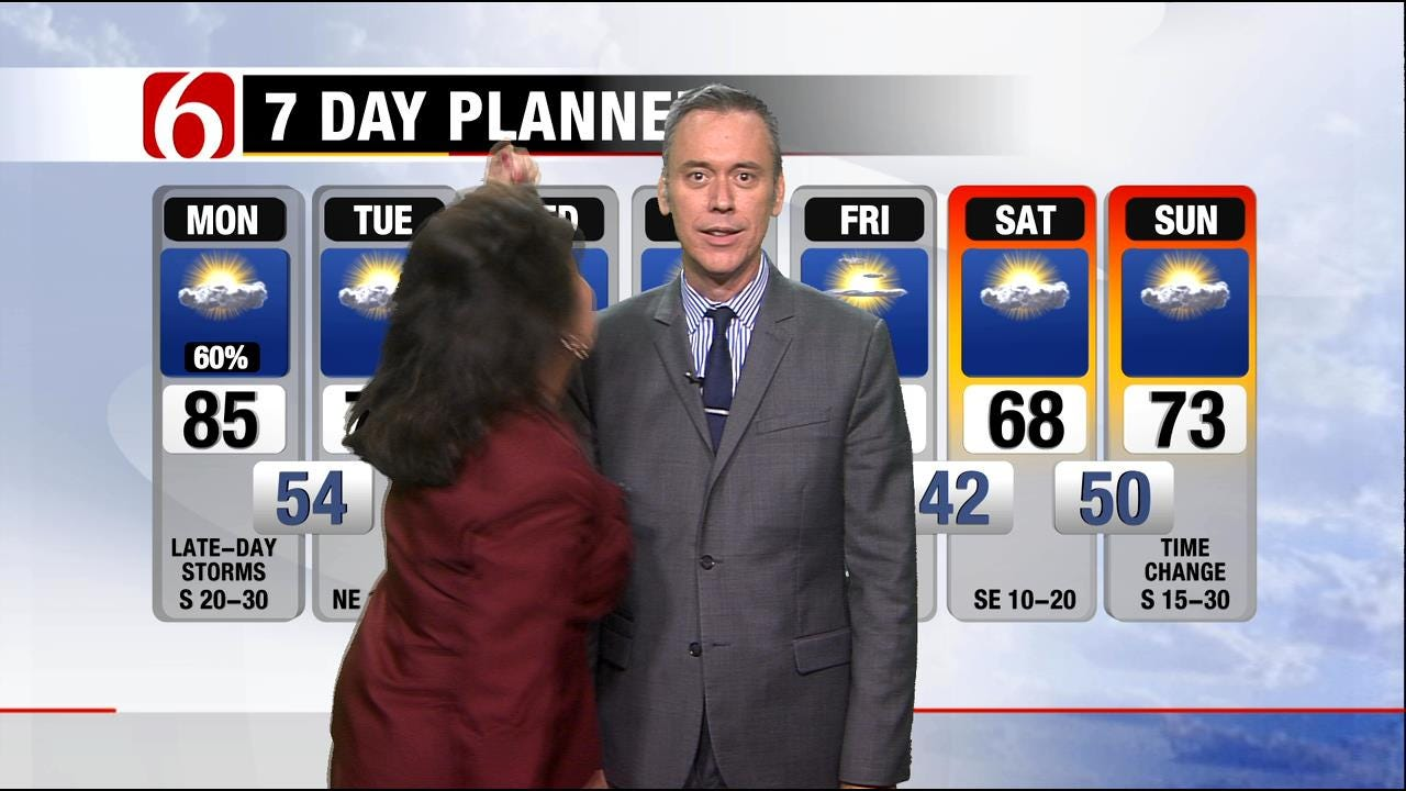 LeAnne Taylor Interrupts Alan Crone's Weather Forecast With Some Dance Moves