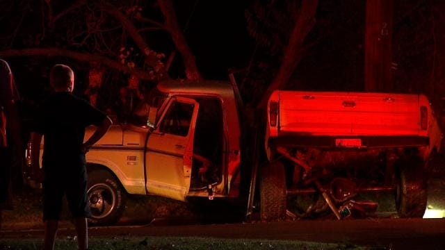 WEB EXTRA: Tulsa Teens Crash Into A Power Pole