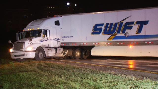 WEB EXTRA: Video Of Downtown Tulsa Jack-Knifed Semi