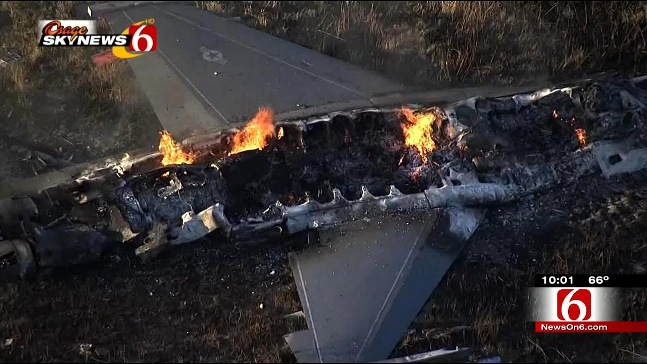 F-16s Collide Over Kansas; One Crashes, One Returns To Tulsa