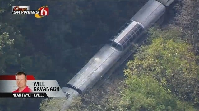 WEB EXTRA: Osage SkyNews 6 HD Flies Over Arkansas Train Crash