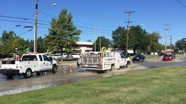 WEB EXTRA: Video Of Water Main Break On South Sheridan