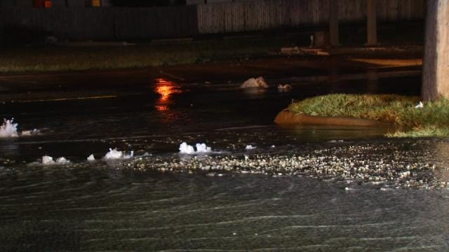 WEB EXTRA: Video Of Water Flowing From Broken Water Main On 31st Street