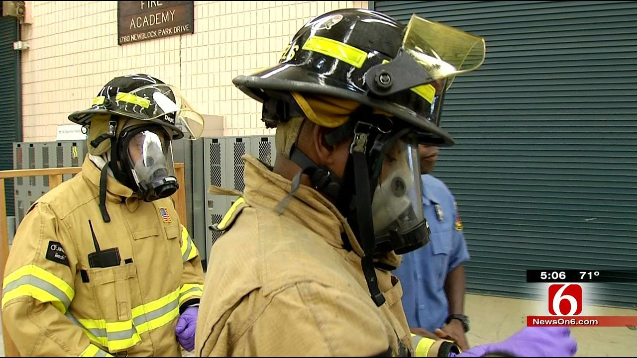 Tulsa Firefighters Train In Infectious Disease Response, Protection