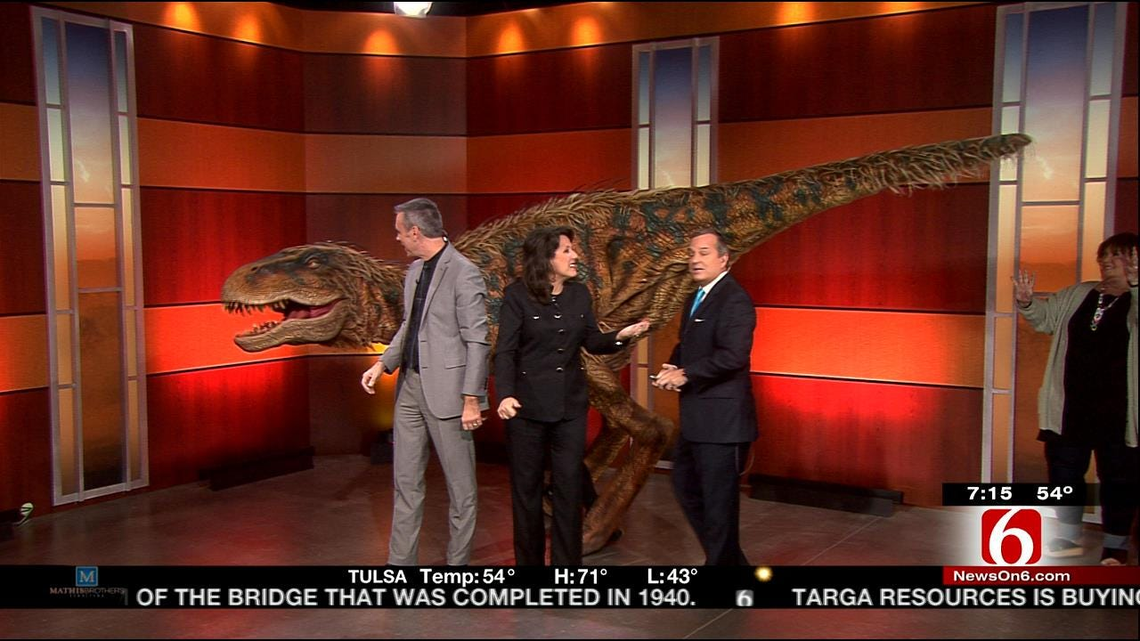 T-Rex Dinosaur Visits 6 In The Morning