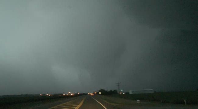 WEB EXTRA: Possible Tornado Near Burns Flat
