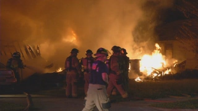 WEB EXTRA: Tulsa Home Destroyed By Fire
