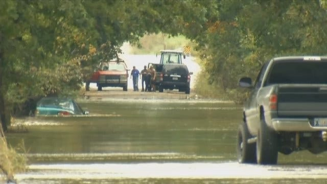 Driver Stranded In Craig County Flood Waters