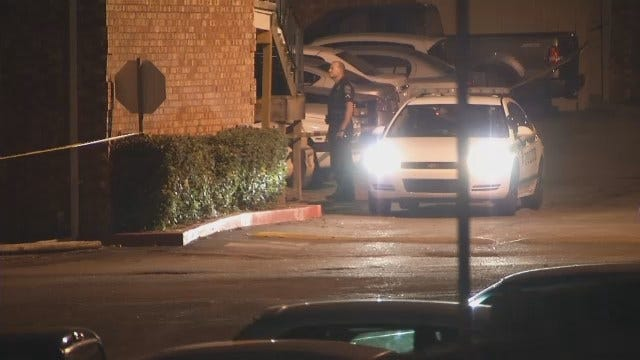 WEB EXTRA: Video From The Scene Of Shots Fired Outside Tulsa Apartment Complex