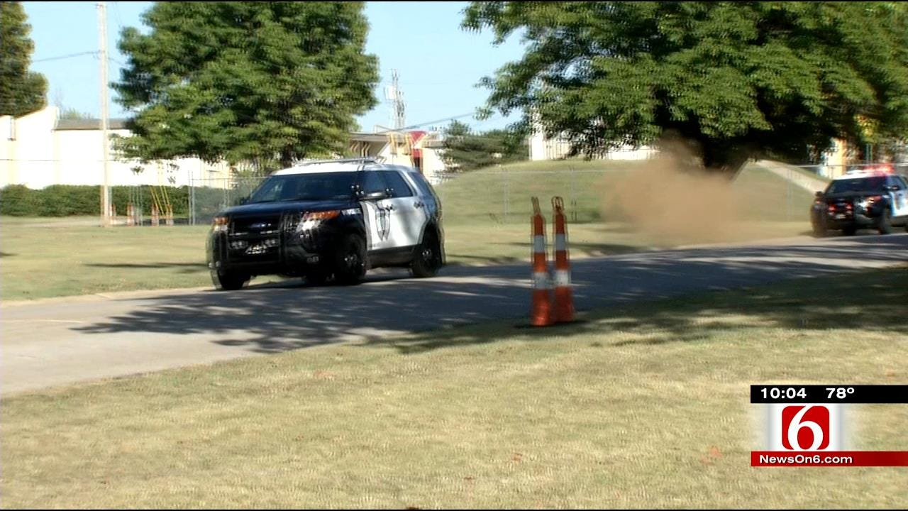 Jenks Officers Keep Driving Skills Sharp With Intense Training