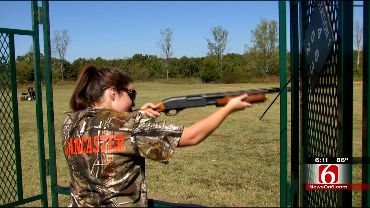 Hundreds Of Oklahoma Students Compete In Skeet Shooting