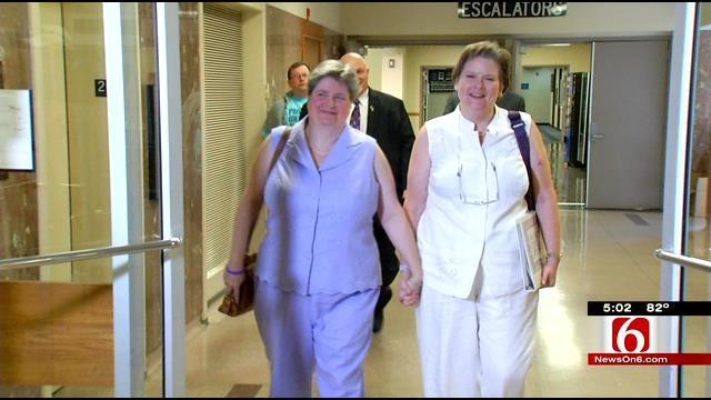 Same-Sex Tulsa Couple Sign Marriage License