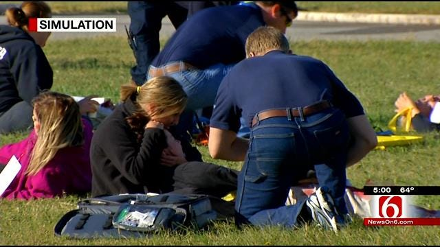 Emergency Responders Train For Possible Aircraft Crash At Bartlesville Municipal Airport