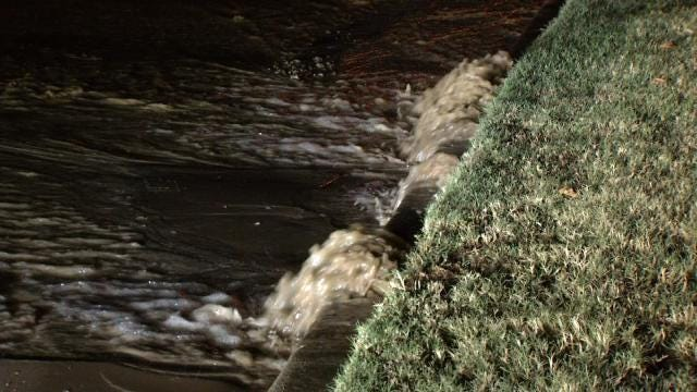 WEB EXTRA: Video Of A Six-Inch Water Line Break At 45th And Joplin