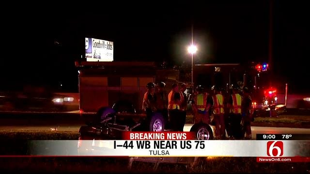 EMSA Transports 1 After Rollover Collision At U.S. 75 And I-44