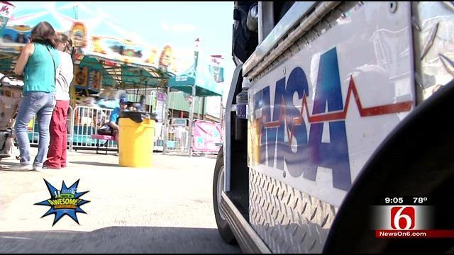 EMSA Treats Emergencies, First Aid Concerns At Tulsa State Fair
