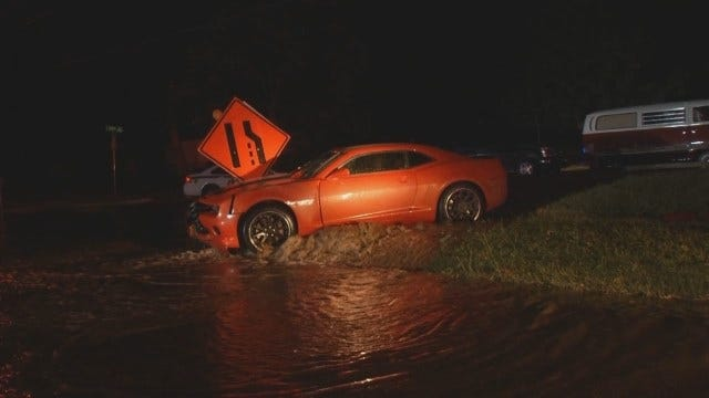 WEB EXTRA: Car Takes Out Hydrant Near Lewis