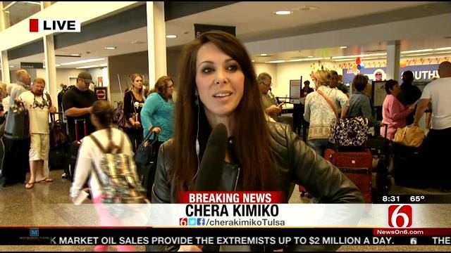 WEB EXTRA: News On 6 Anchor Chera Kimko At Tulsa International Airport Looks At The Impact