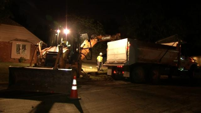 WEB EXTRA: Video From Scene At Water Main Break At 51st and Irvington