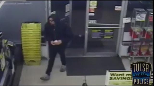 WEB EXTRA: Surveillance Video From Tulsa Dollar General Robbery