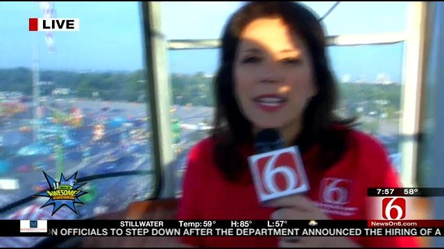 LeAnne Taylor Enjoys The View In The Sky Ride At The Tulsa State Fair