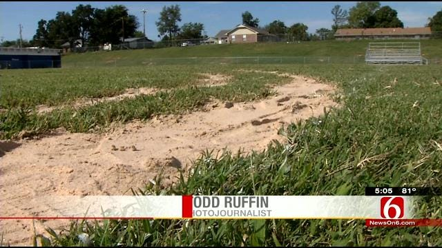 Truck Doing Donuts Causes Damage To Depew Football Field