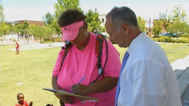 'Take Shelter Oklahoma' Group At Tulsa Fair For Petition Signatures