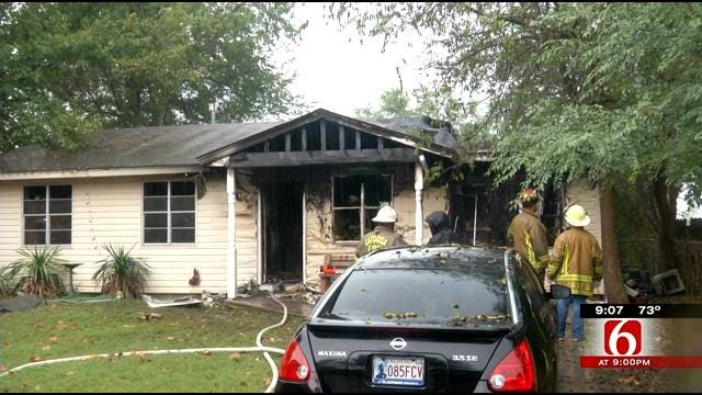 Catoosa Family Escapes House Fire Sunday Morning
