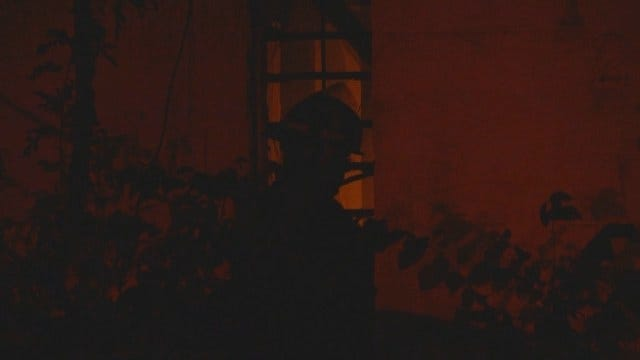 WEB EXTRA: Fatal Fire At Old Baptist Church in Foyil
