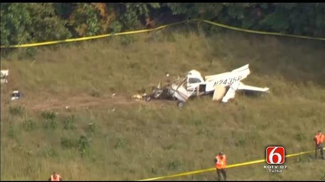 Osage SkyNews 6 HD Flies Over Okmulgee County Plane Crash Scene