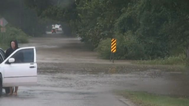 WEB EXTRA: Video Of Flooding At 81st And Elwood In Tulsa