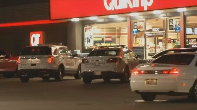 WEB EXTRA: Video From Scene Of Robbery Of East Tulsa QuikTrip