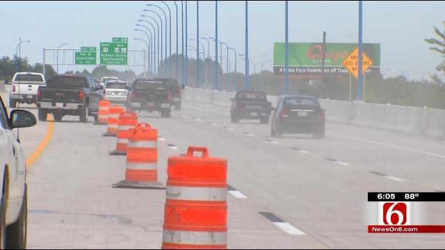 Tulsa Holds Ribbon Cutting As I-244 Bridge Re-Opens